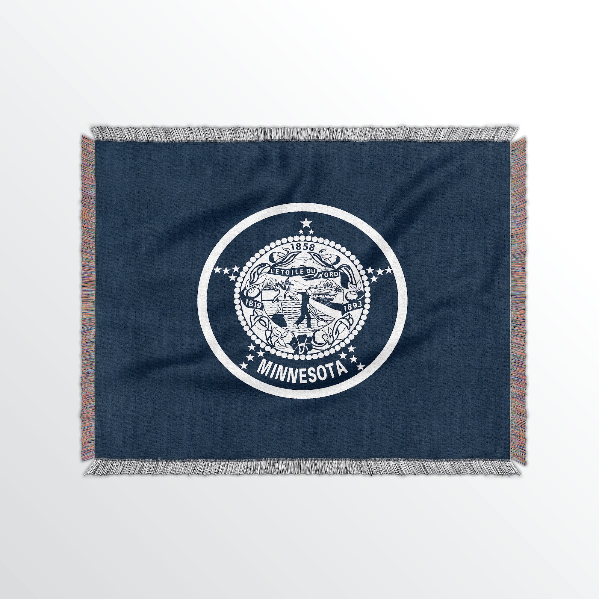 Minnesota State Woven Cotton Blanet - Point Two Design