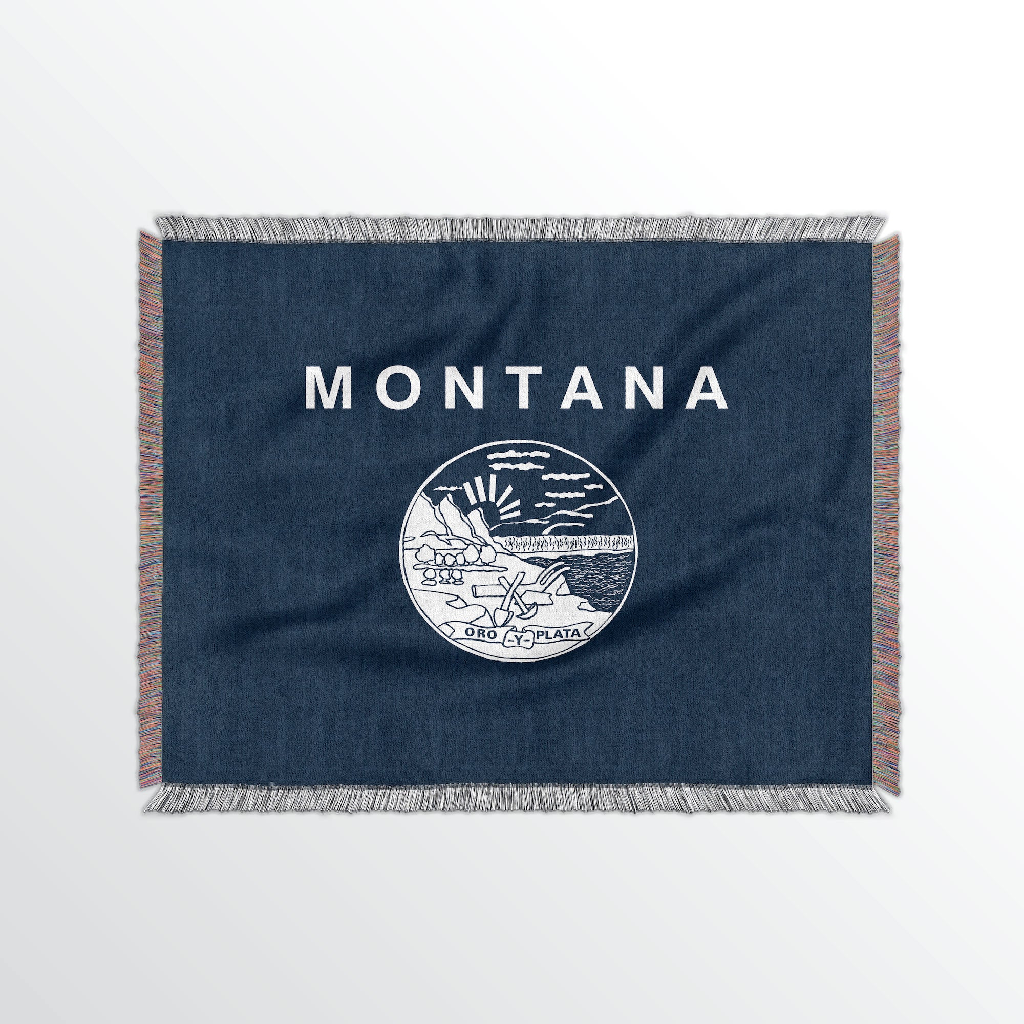 Montana State Woven Cotton Blanet - Point Two Design
