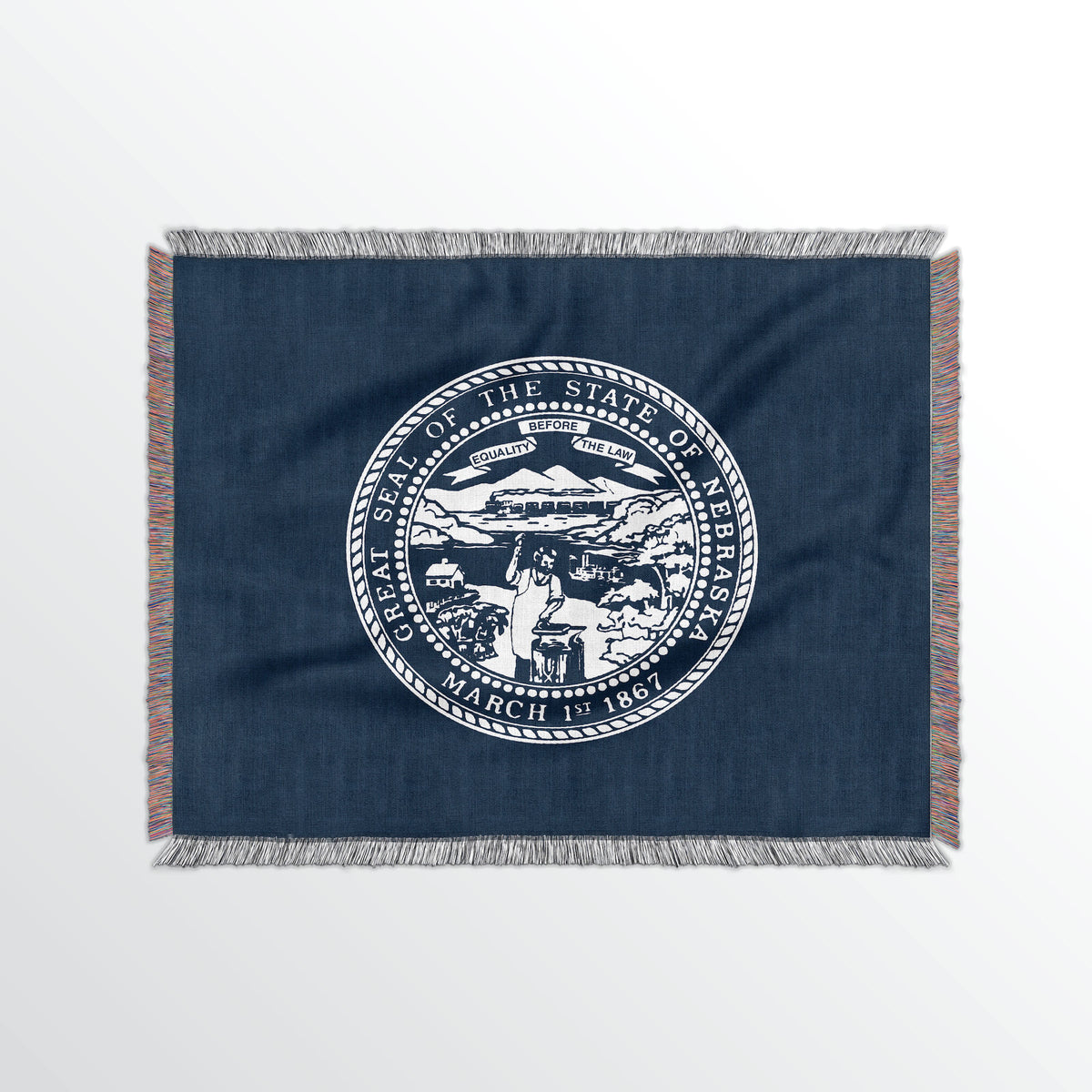 Nebraska State Woven Cotton Blanet - Point Two Design
