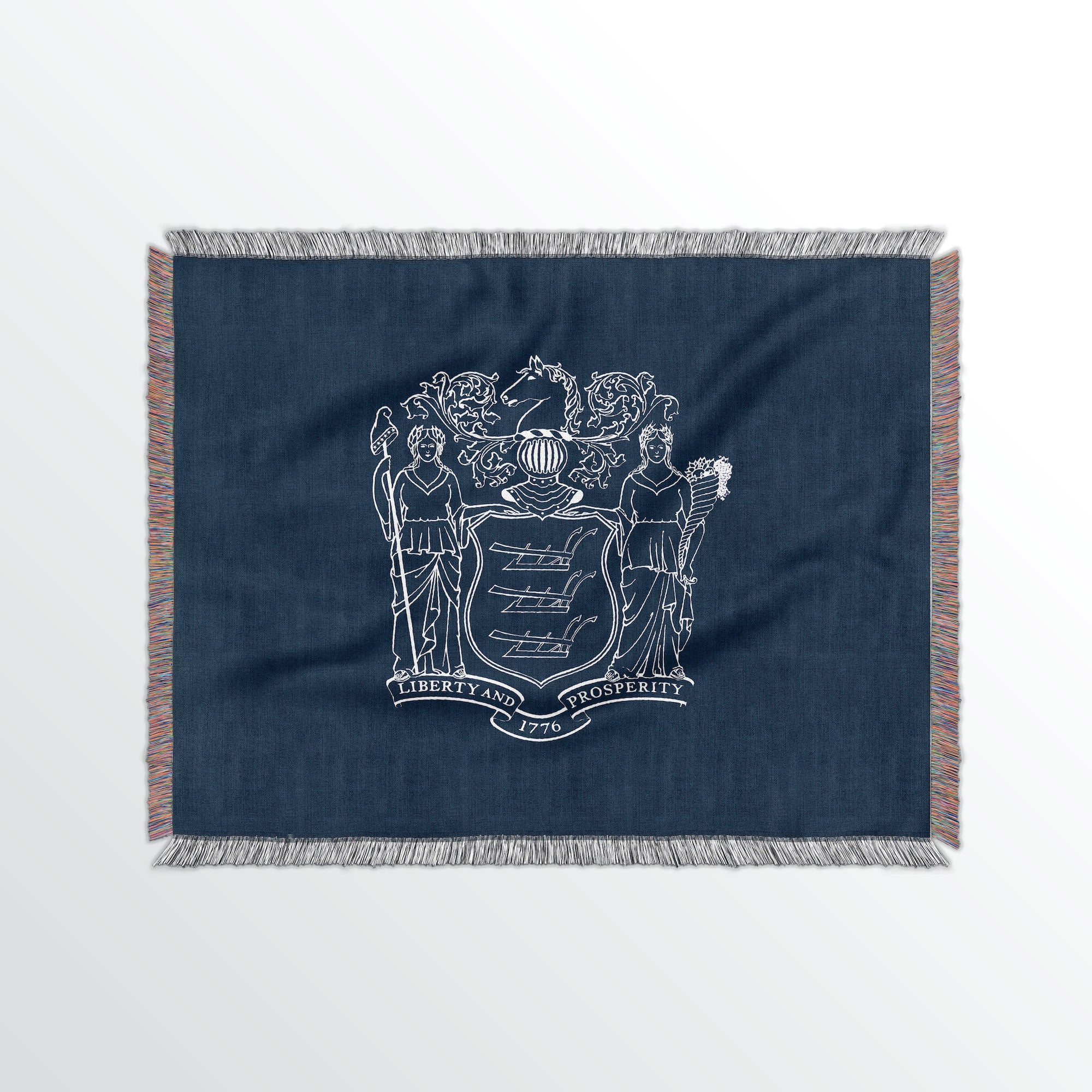 New Jersey State Woven Cotton Blanet - Point Two Design