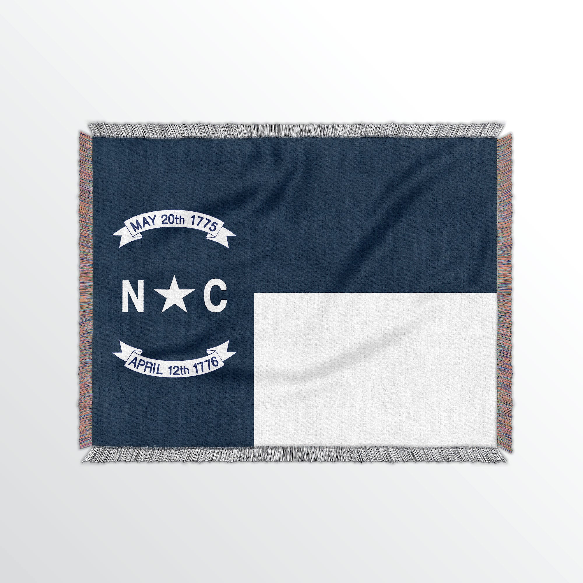 North Carolina State Woven Cotton Blanet - Point Two Design