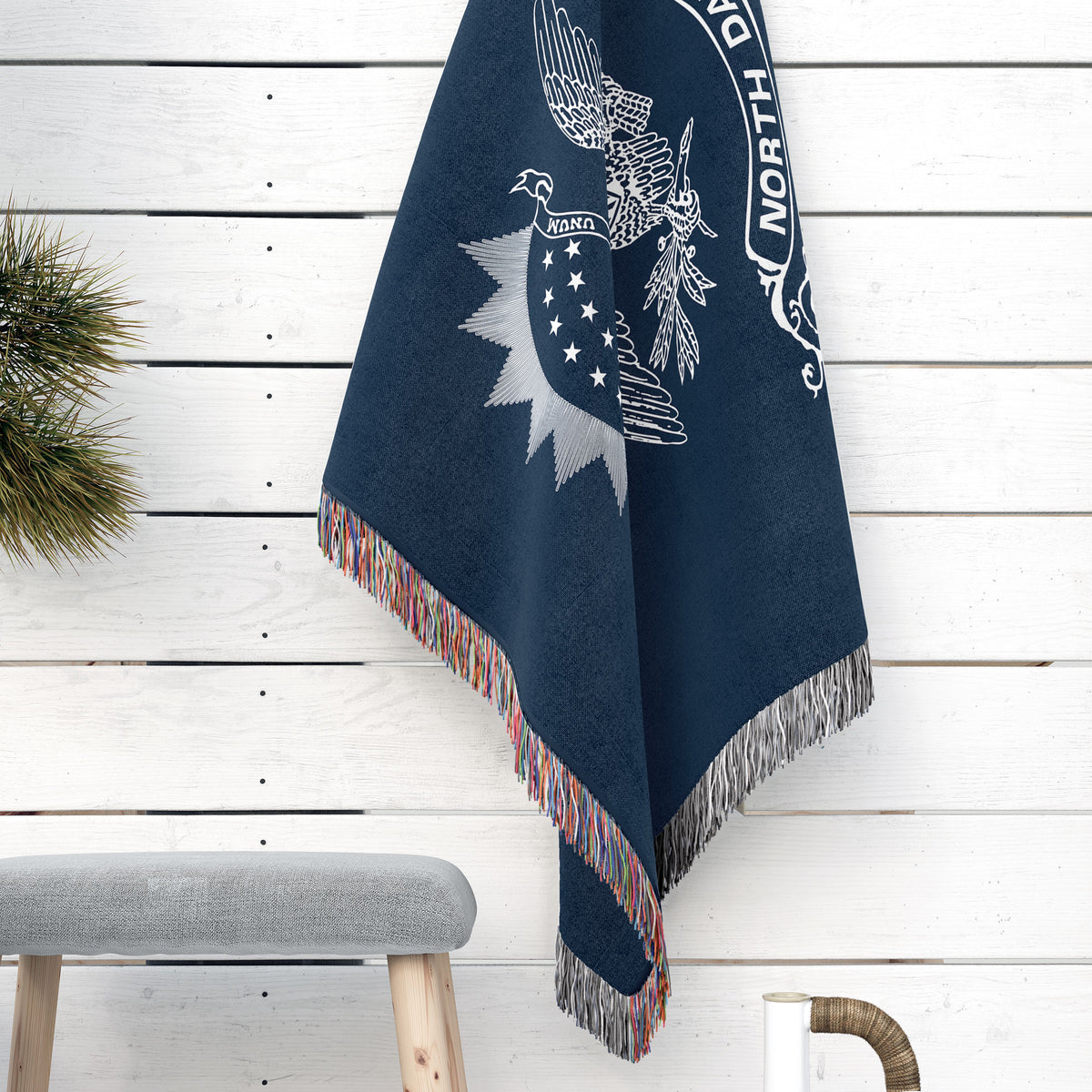 North Dakota State Woven Cotton Blanet - Point Two Design