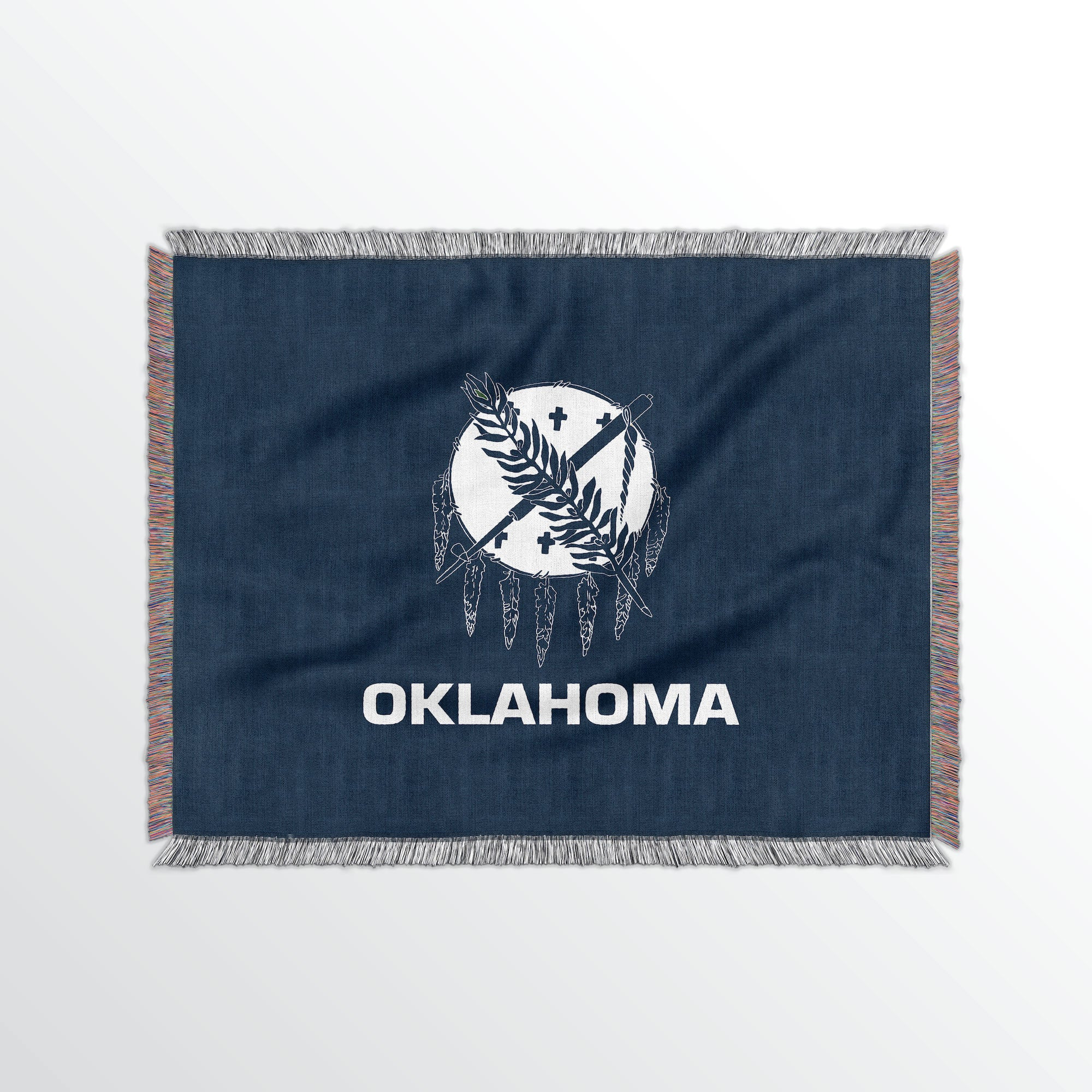 Oklahoma State Woven Cotton Blanet - Point Two Design