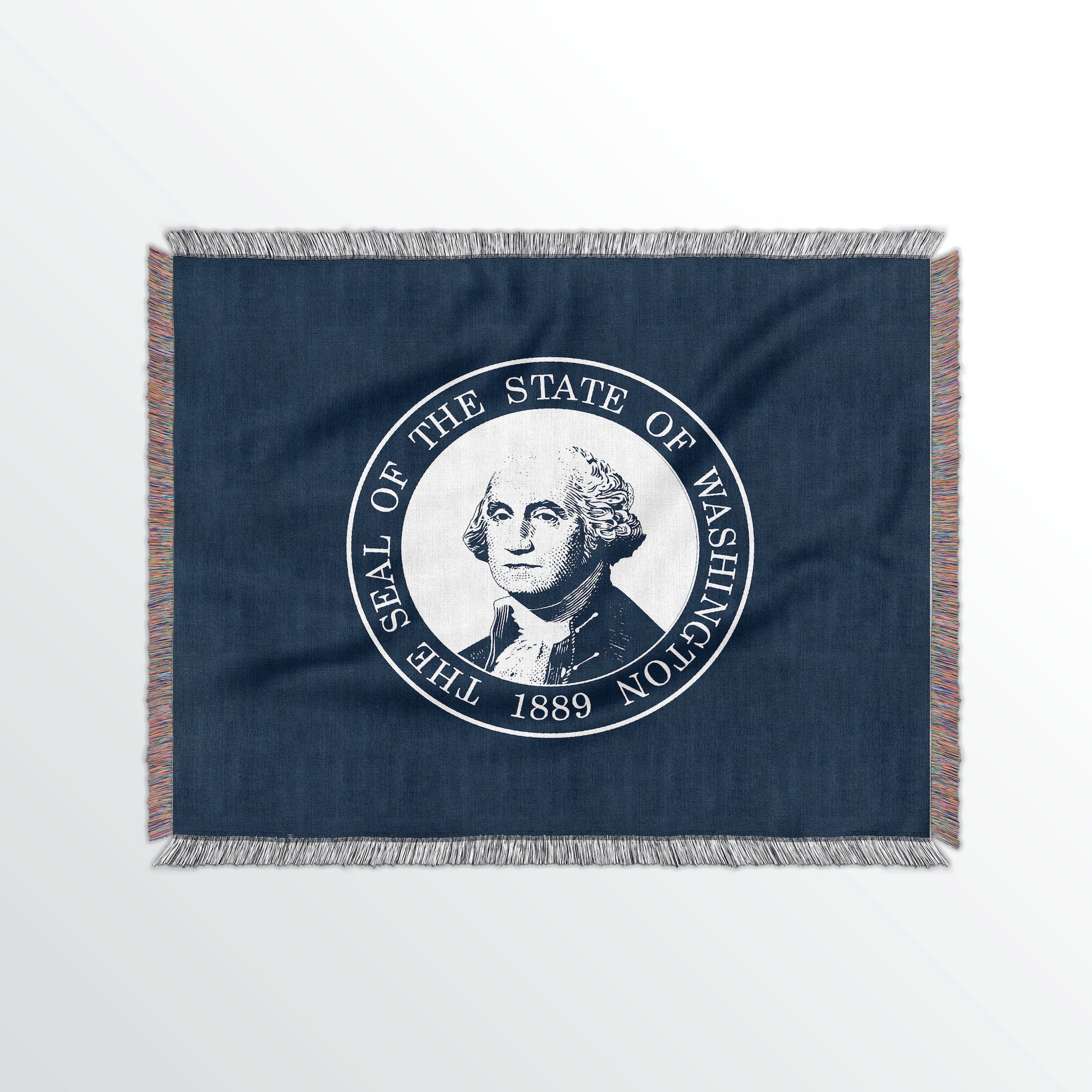 Washington State Woven Cotton Blanet - Point Two Design