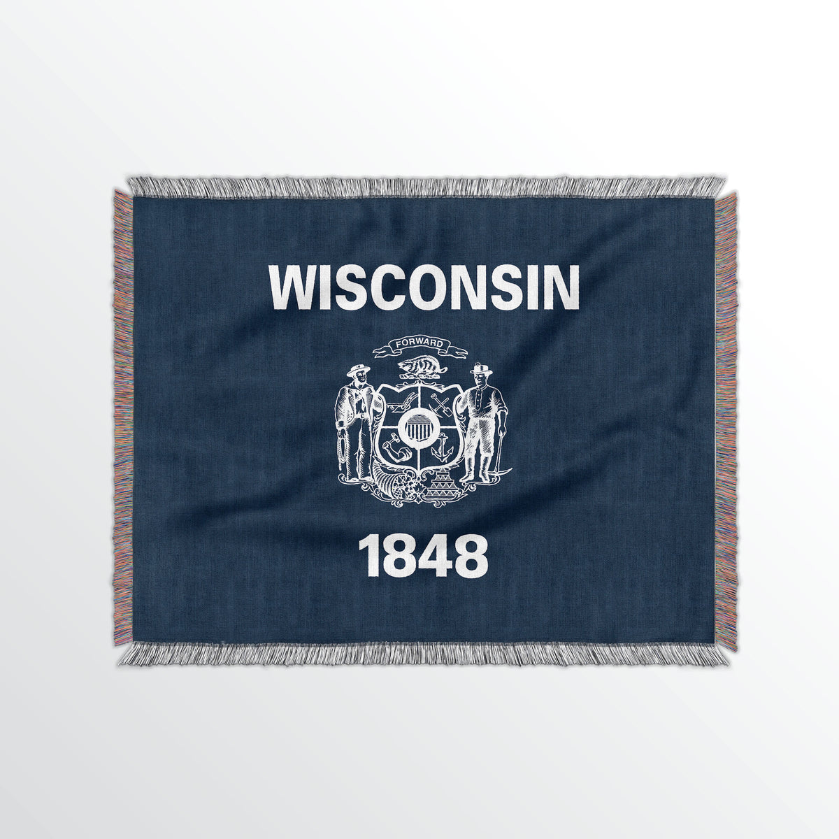 Wisconsin State Woven Cotton Blanet - Point Two Design