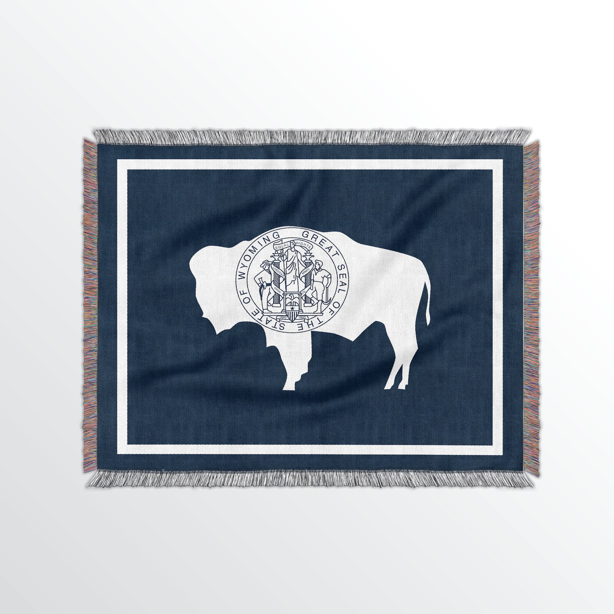 Wyoming State Woven Cotton Blanet - Point Two Design