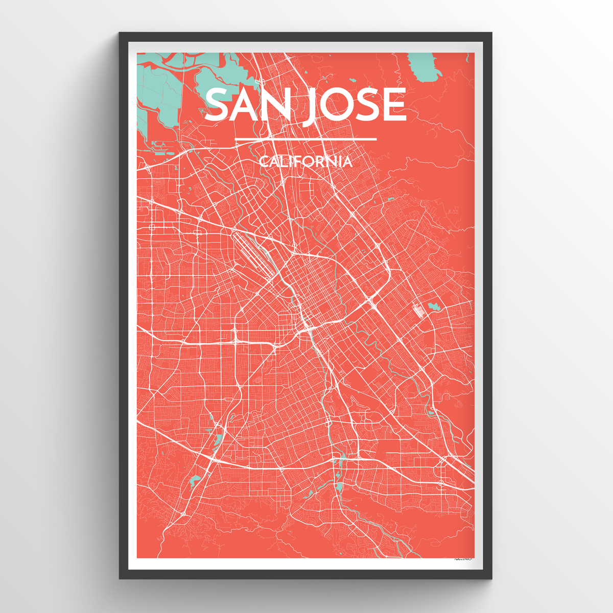San Jose Map Art Print