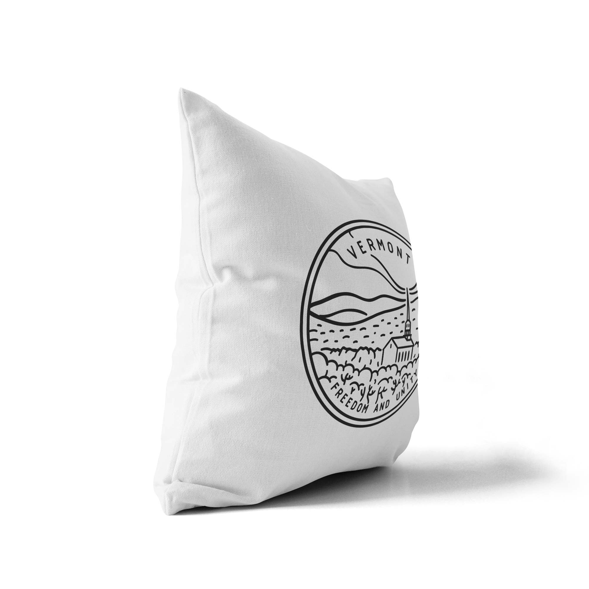Vermont State Crest Throw Pillow