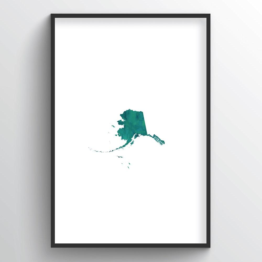 "Alaska Word Art Print - ""Watercolor"" - Point Two Design"