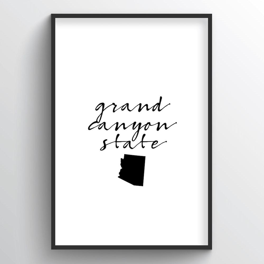 "Arizona Word Art Print - ""Slogan"" - Point Two Design"