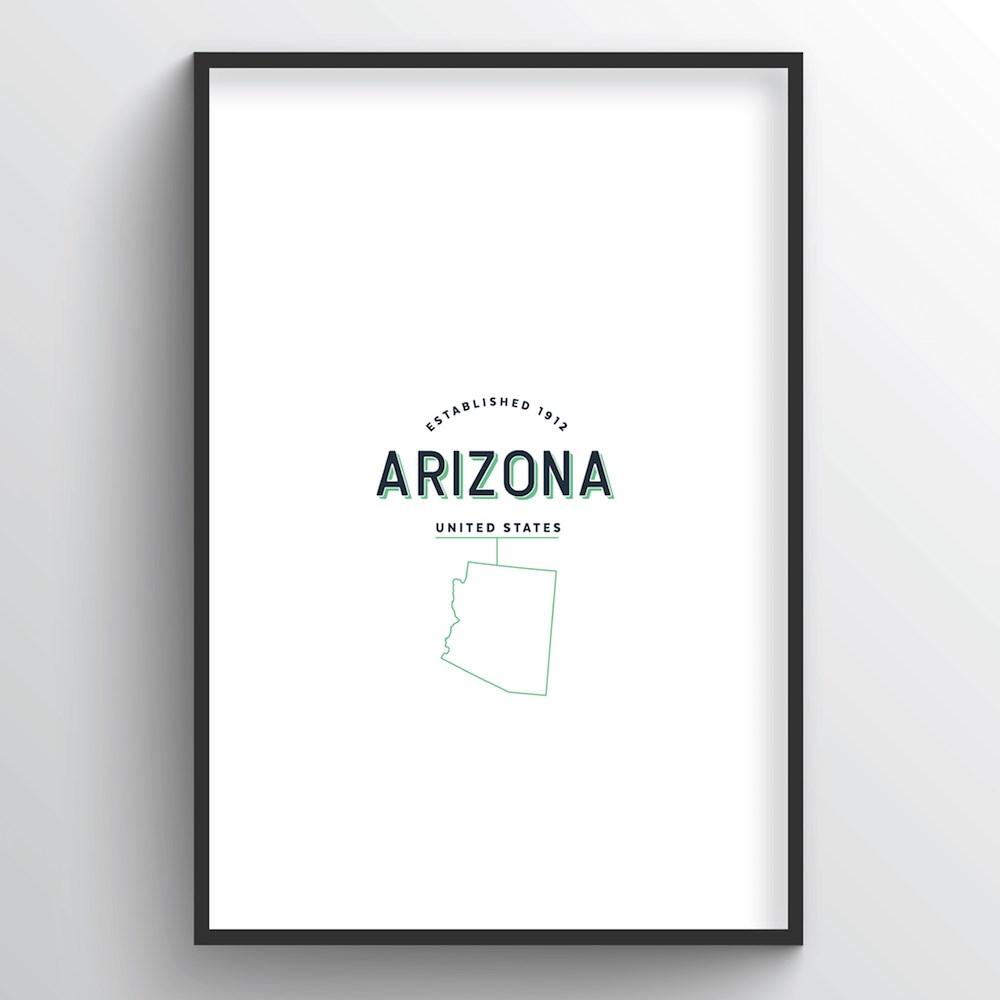 Arizona Word Art - State Line - Point Two Design