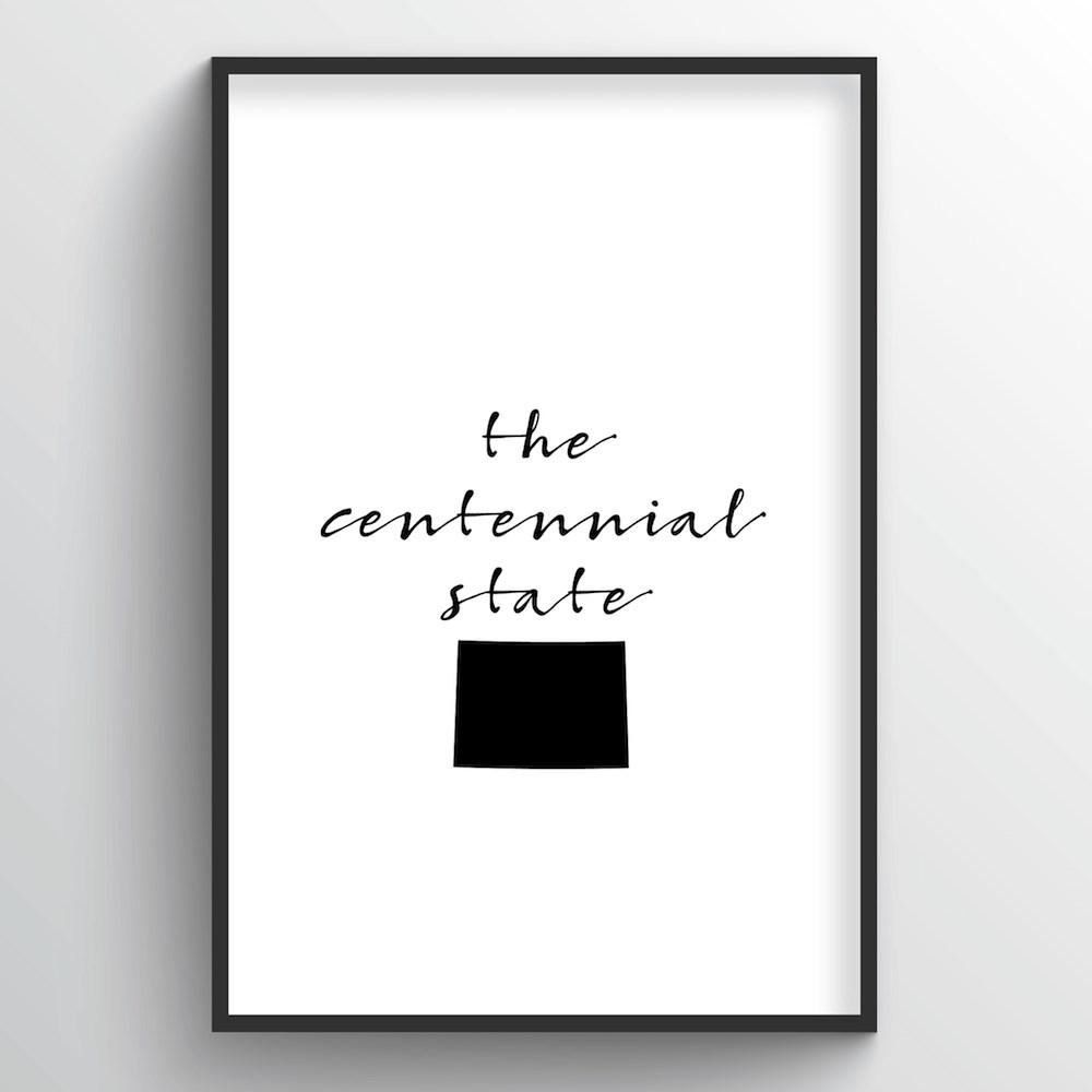 "Colorado Word Art Print - ""Slogan"" - Point Two Design"