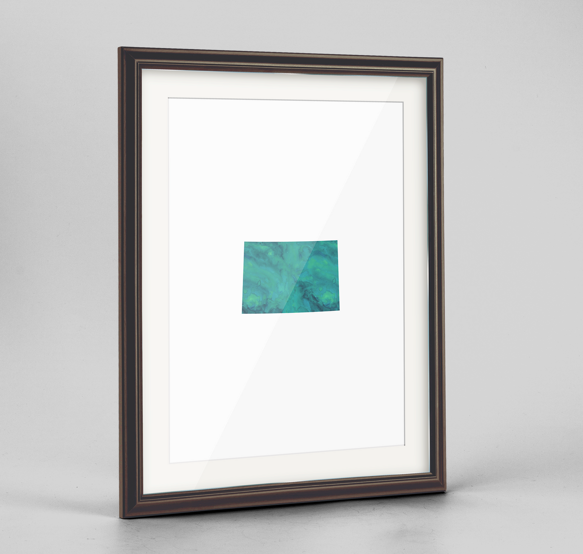 "Colorado Word Art Frame Print - ""Watercolor"""