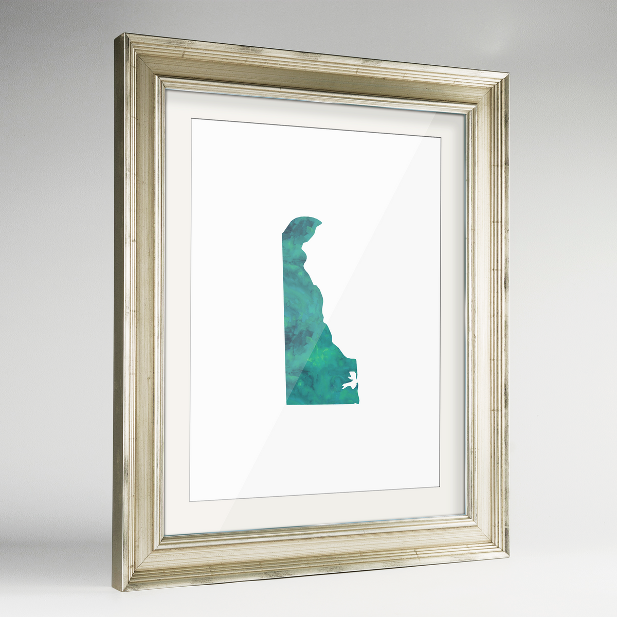 "Delaware Word Art Frame Print - ""Watercolor"""