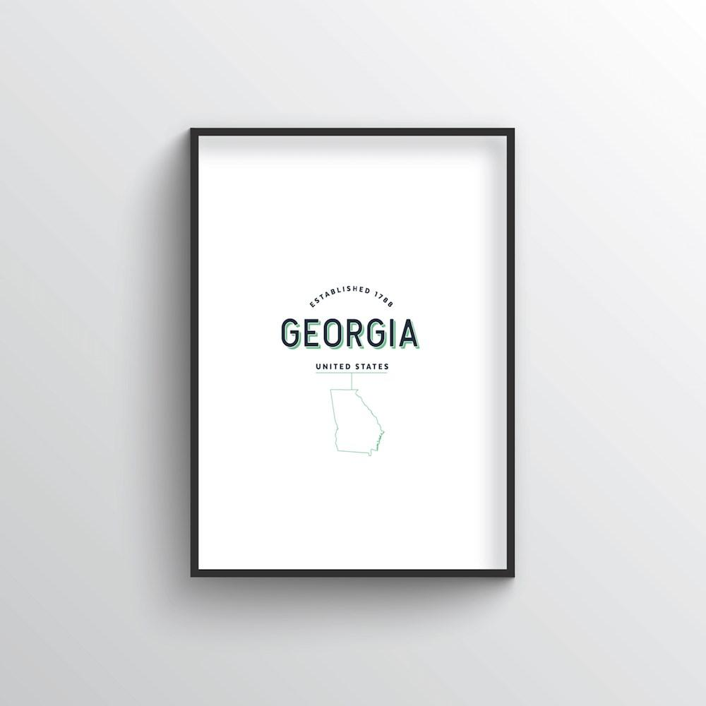 Georgia Word Art