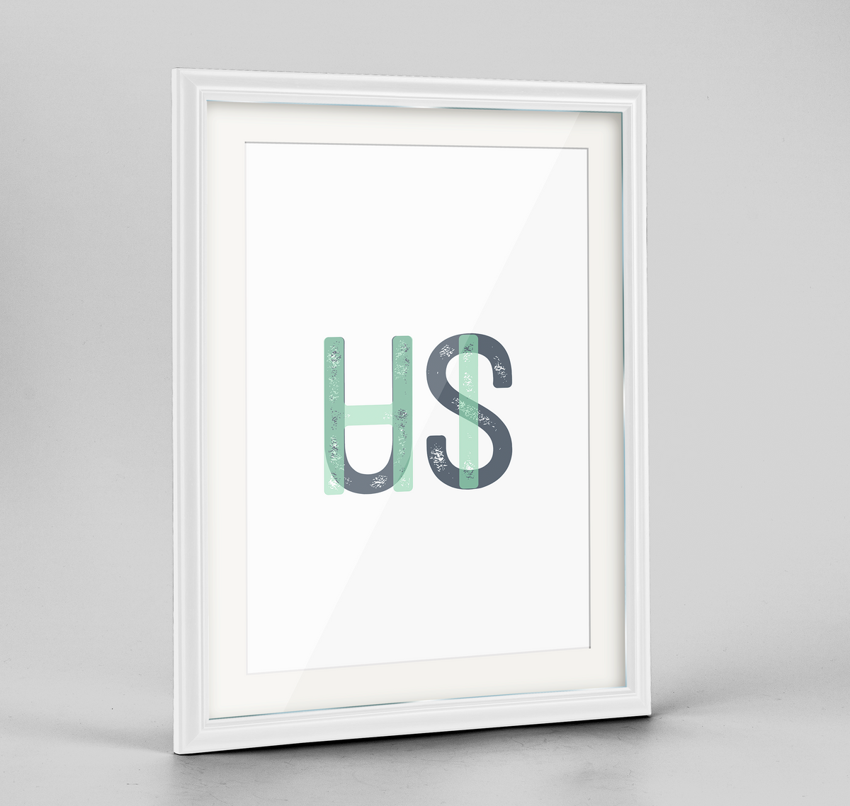 "Hawaii Word Art Frame Print - ""Initials"""