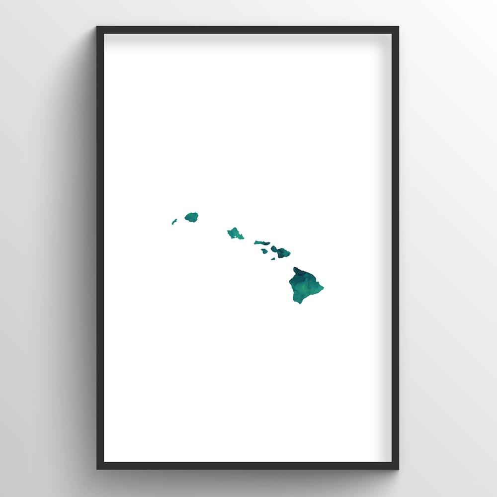 "Hawaii Word Art - ""Watercolor"""