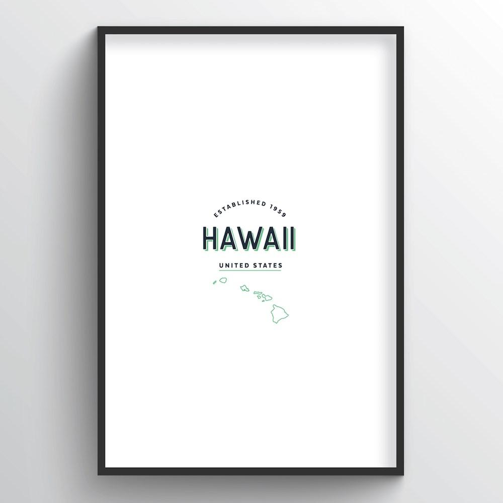 Hawaii Word Art