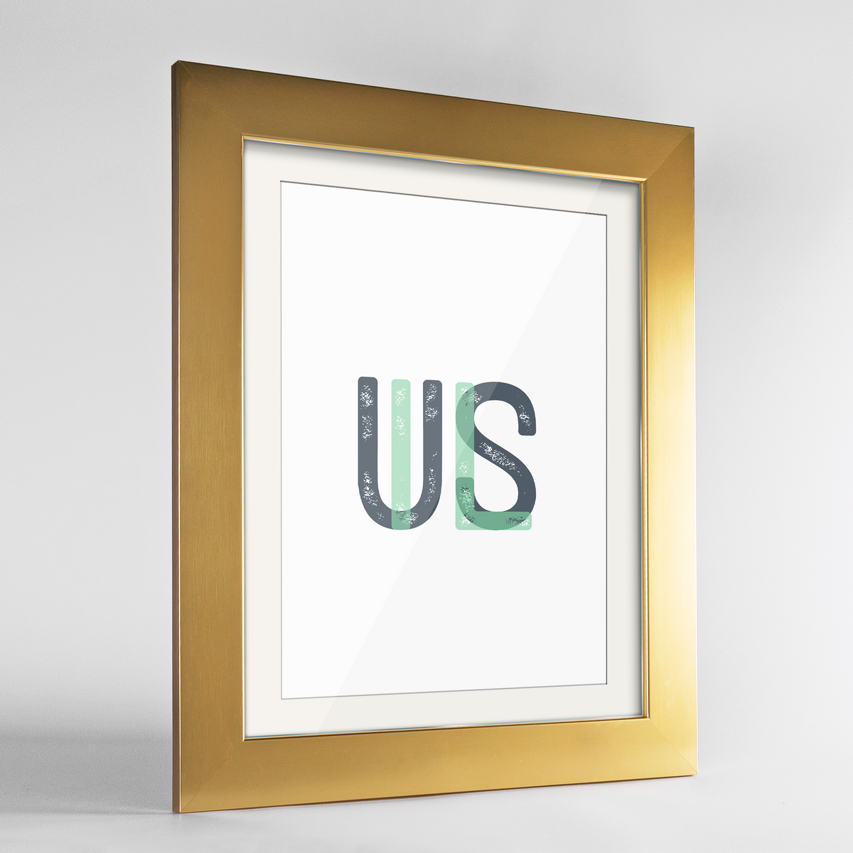 "Illinois Word Art Frame Print - ""Initials"""
