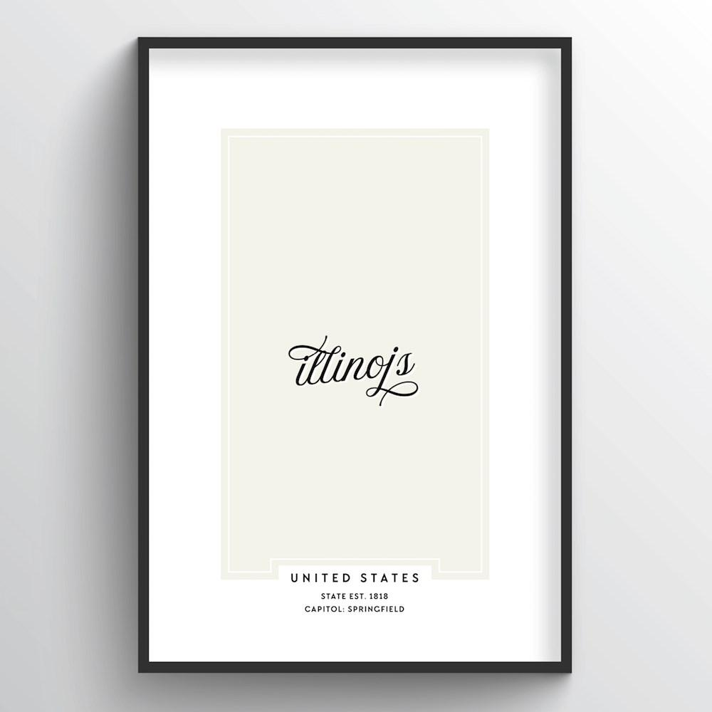 "Illinois Word Art - ""Script"""