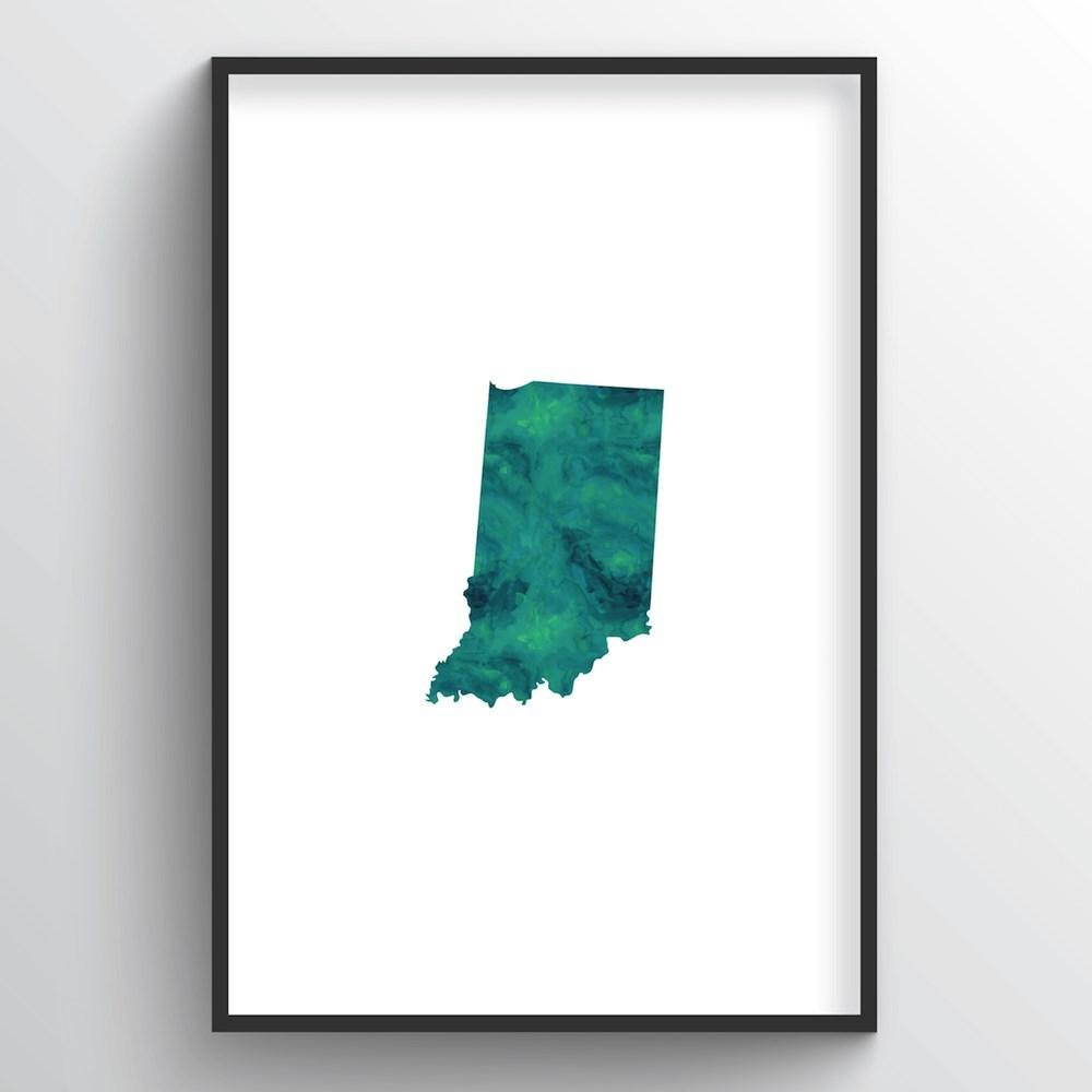 "Indiana Word Art - ""Watercolor"""