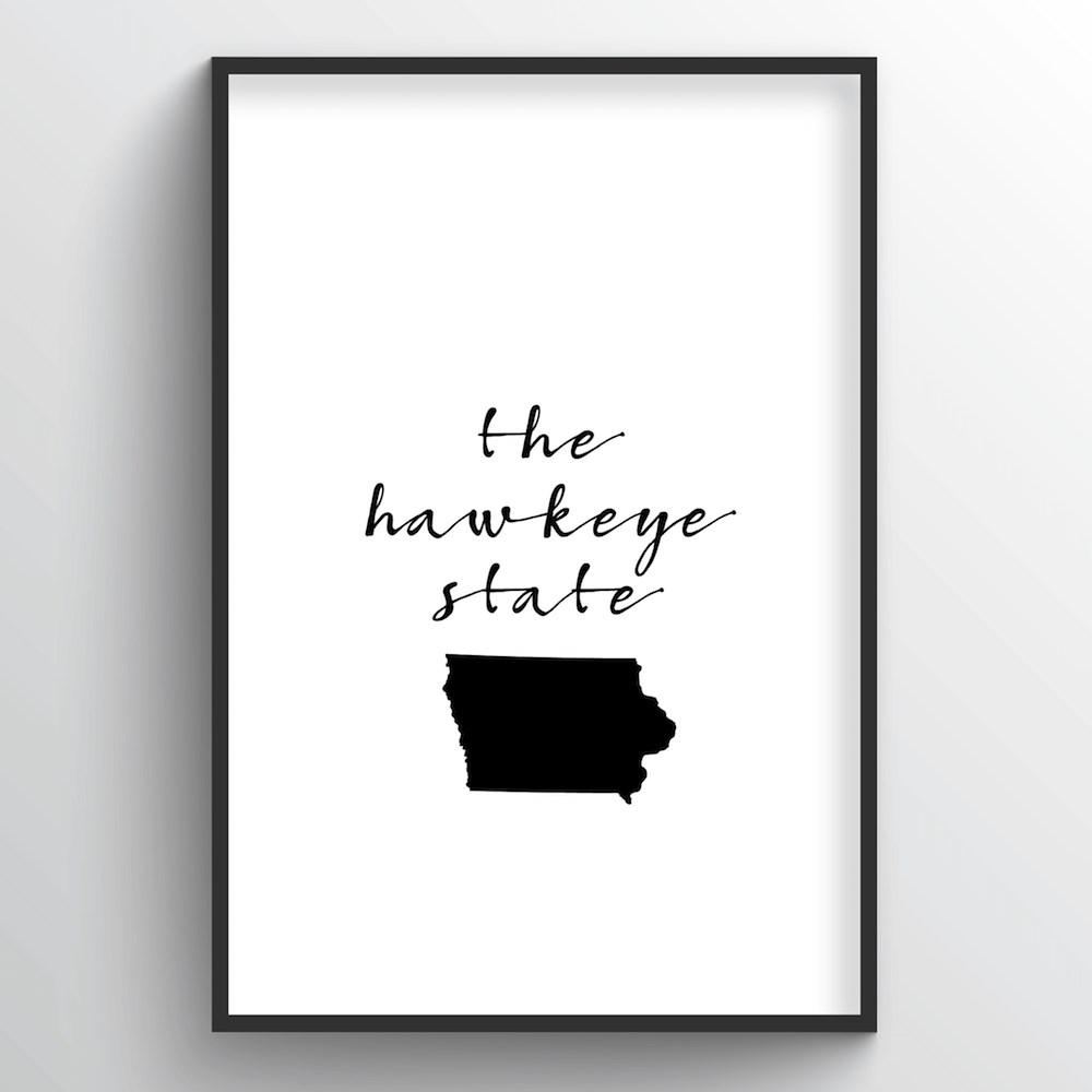 "Iowa Word Art - ""Slogan"""
