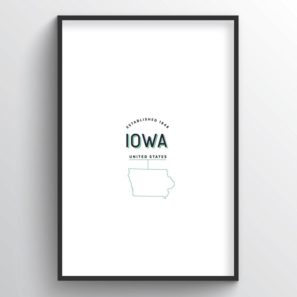 Iowa Word Art