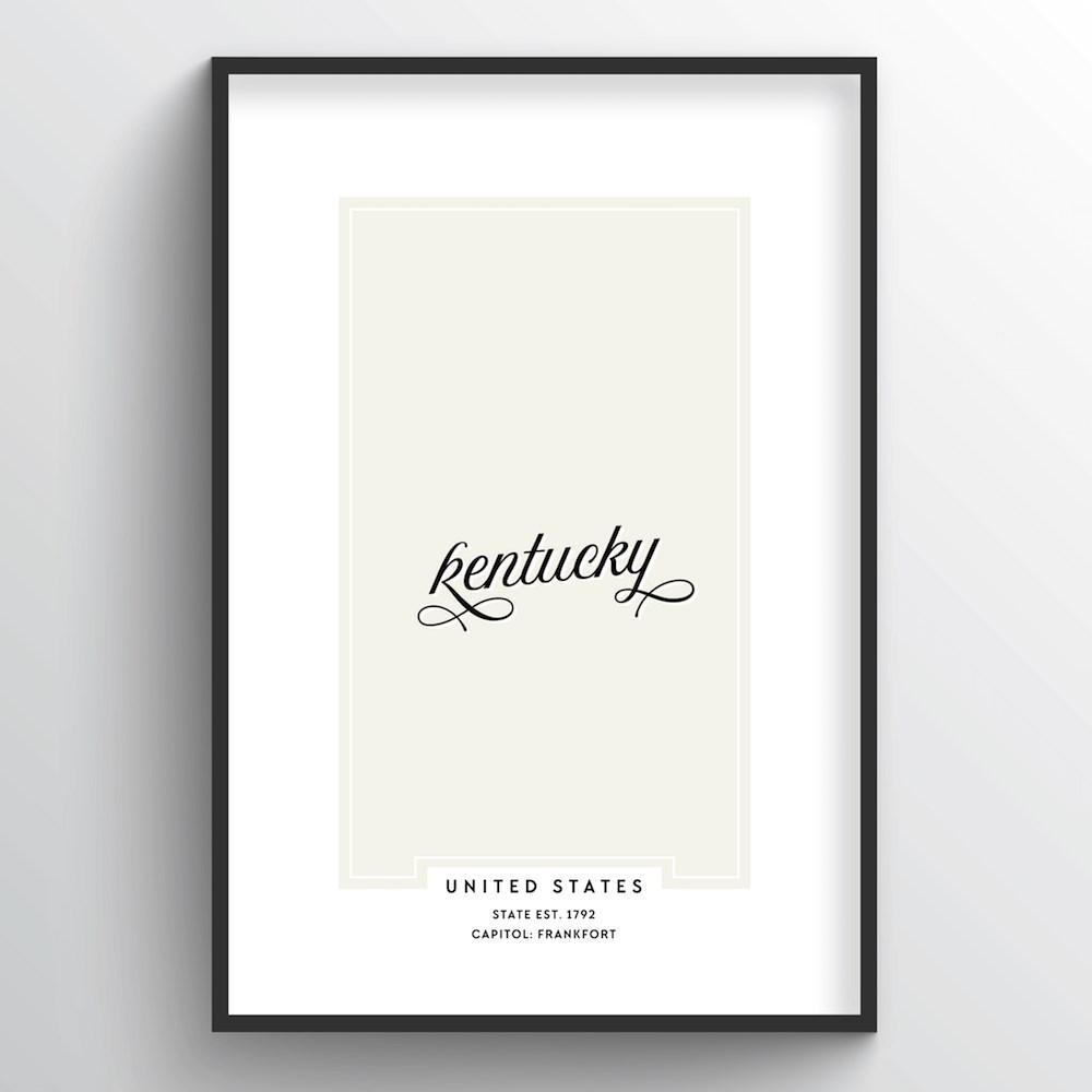 "Kentucky Word Art - ""Script"""
