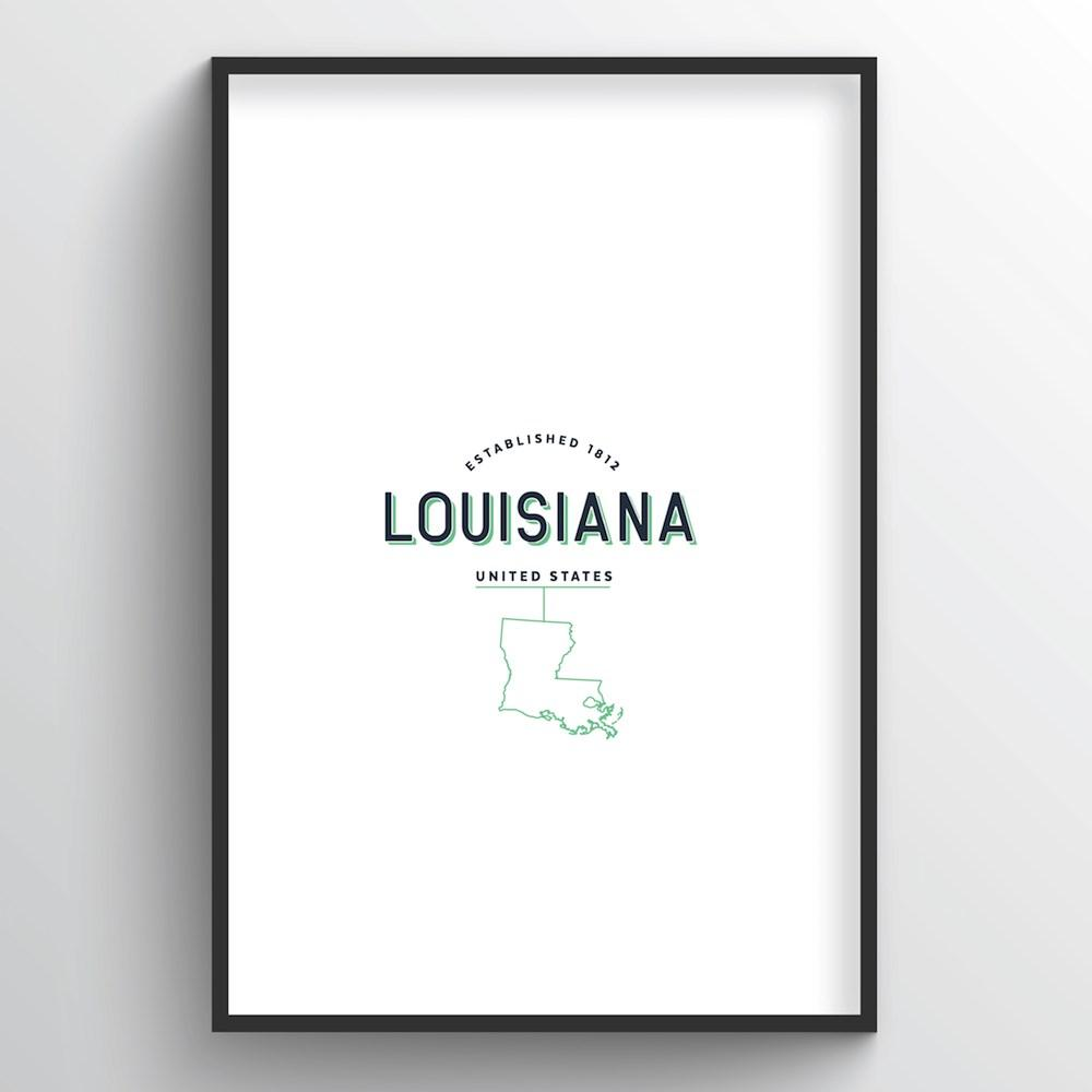Louisiana Word Art
