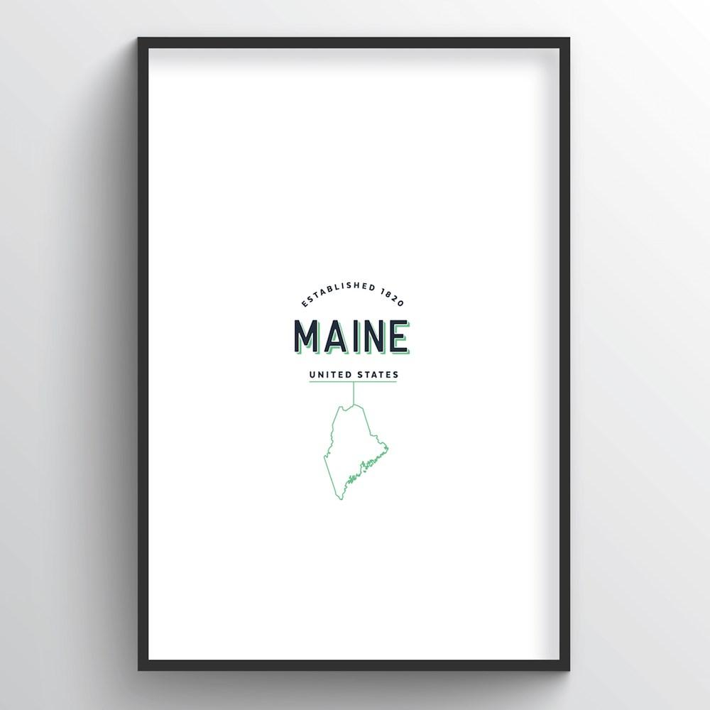 Maine Word Art