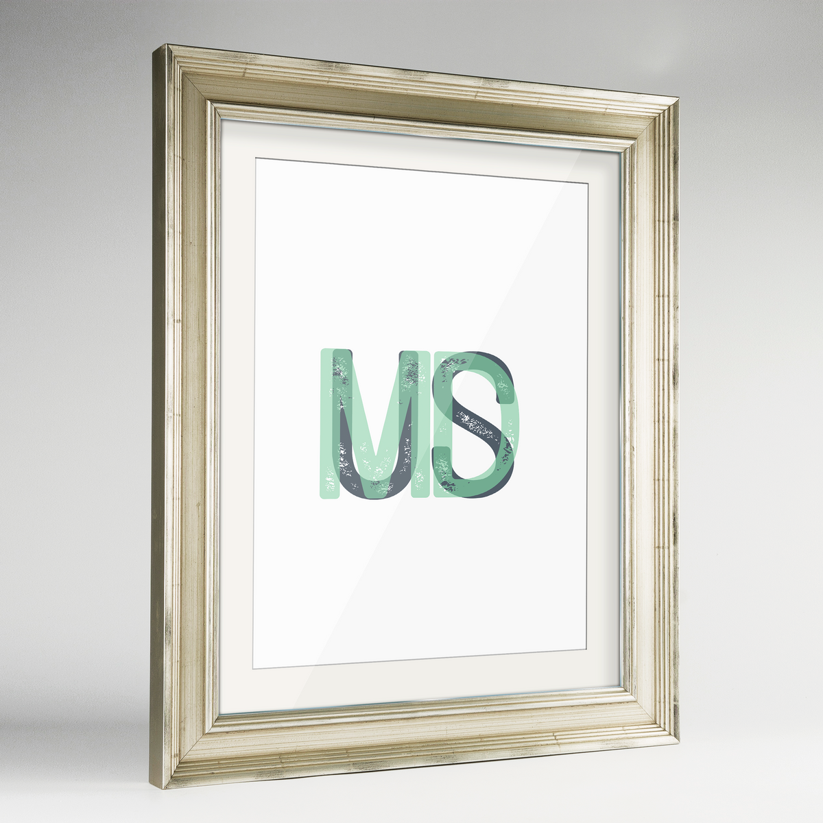 "Maryland Word Art Frame Print - ""Initials"""
