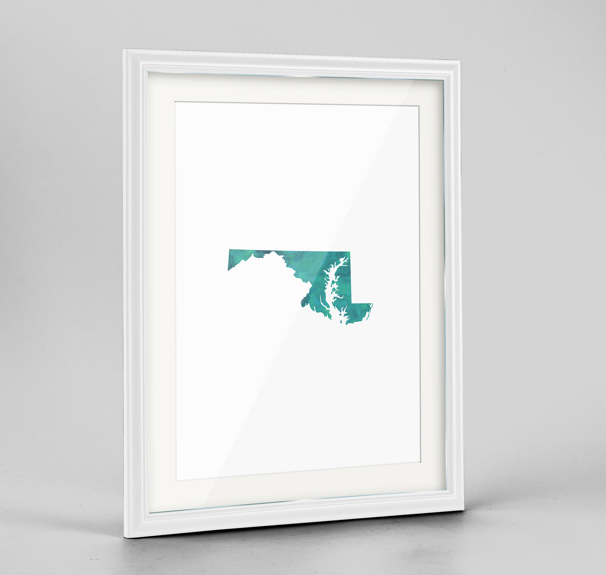 "Maryland Word Art Frame Print - ""Watercolor"""