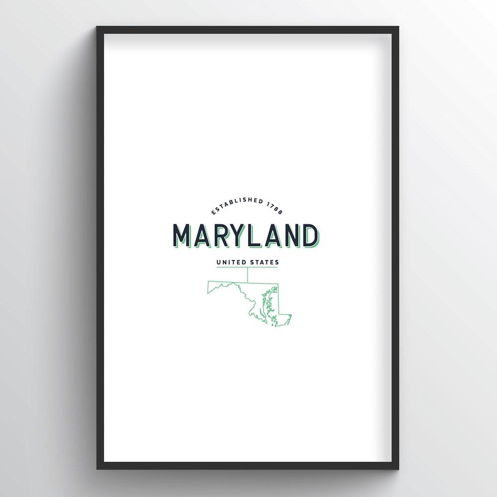 Maryland Word Art