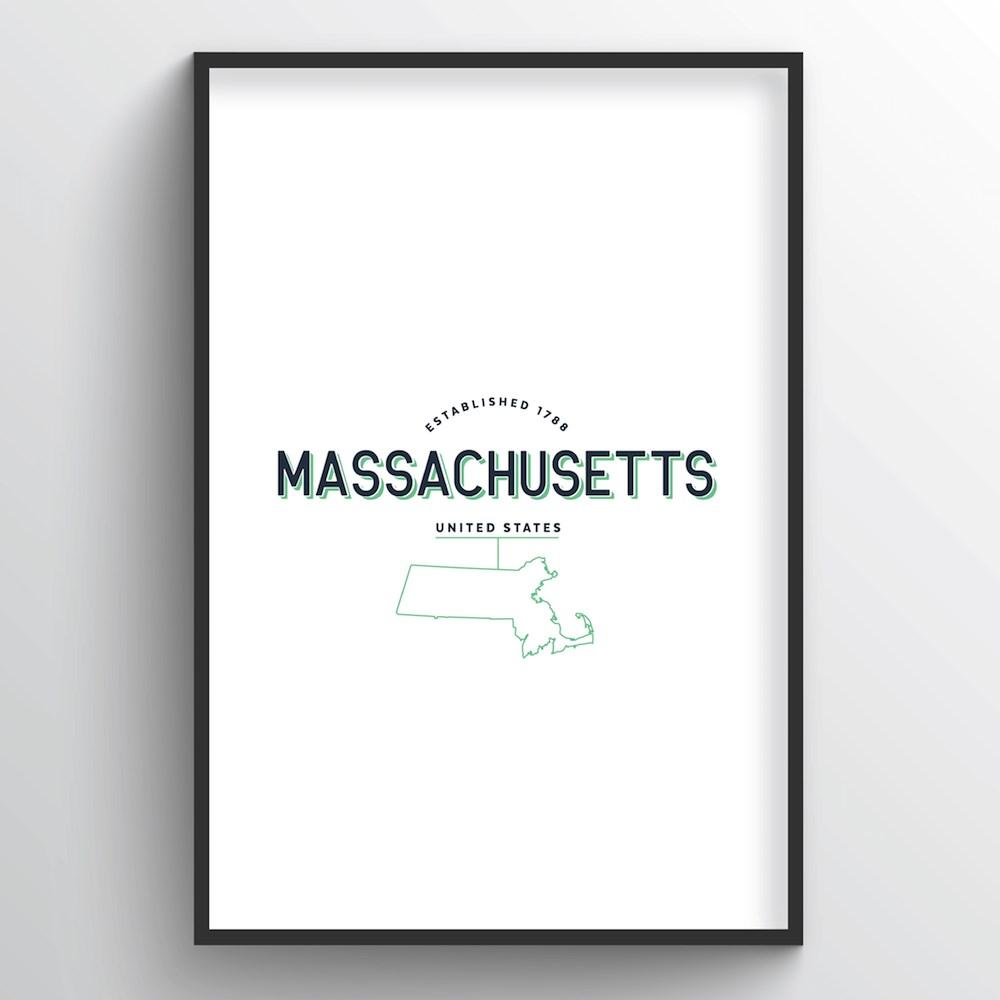 Massachusetts Word Art