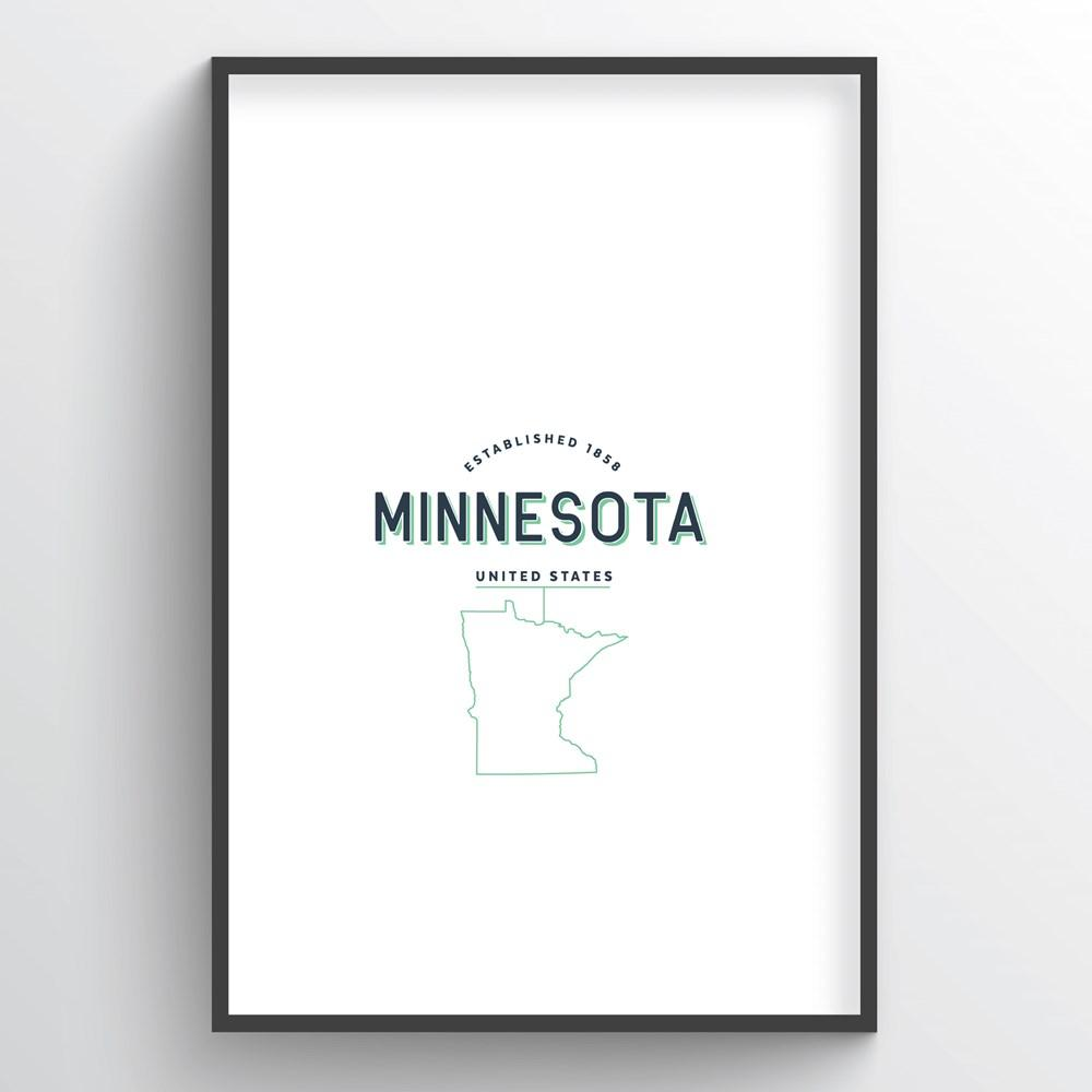 Minnesota Word Art