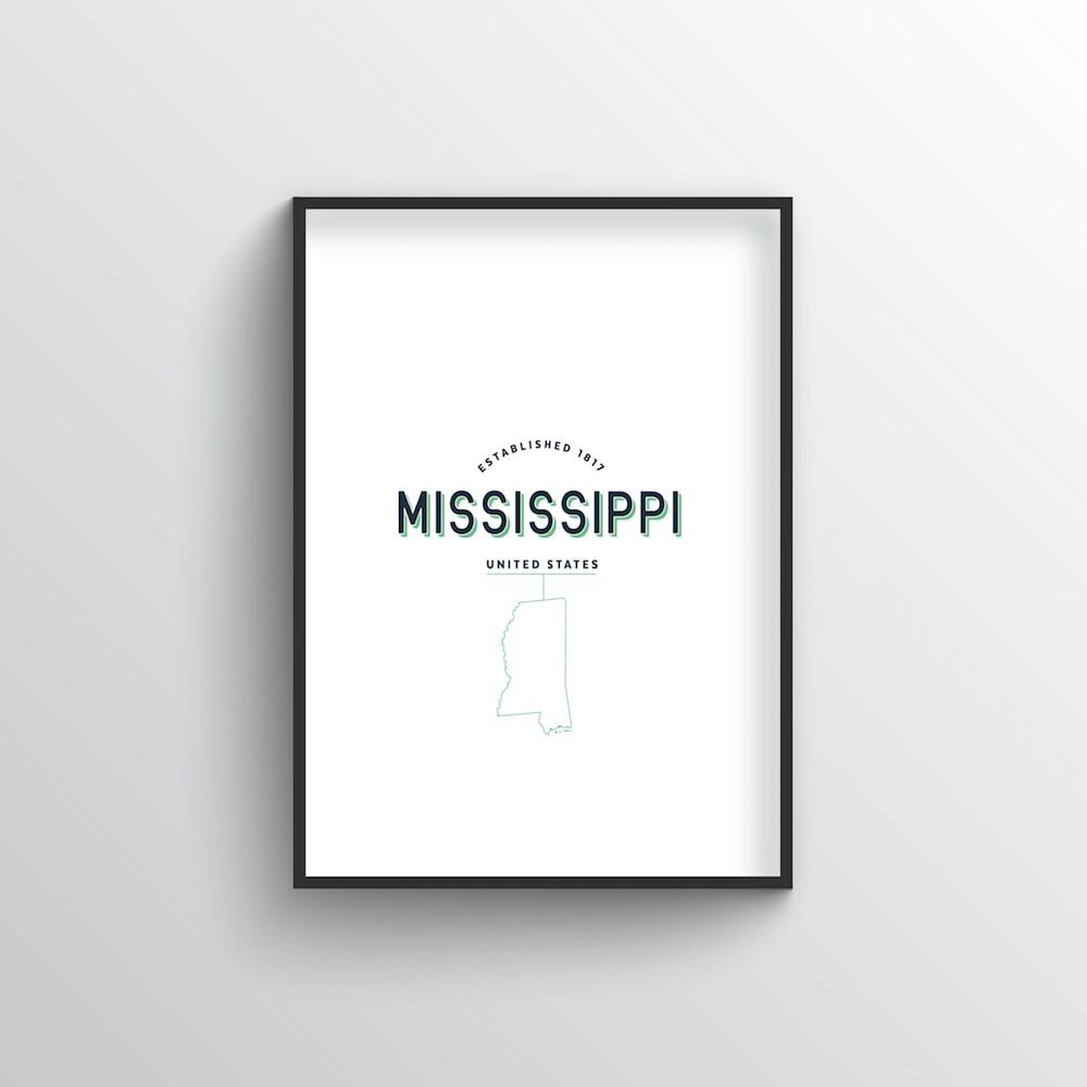 Mississippi Word Art