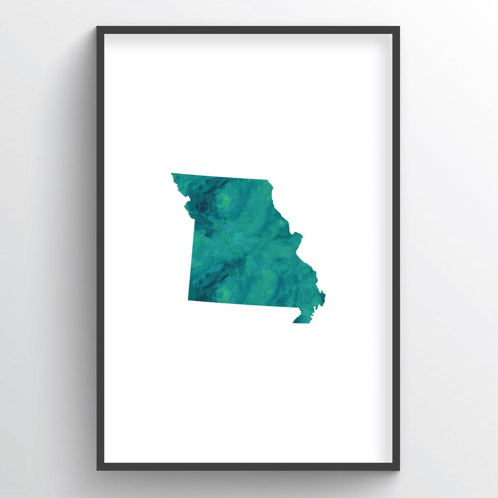 "Missouri Word Art - ""Watercolor"""