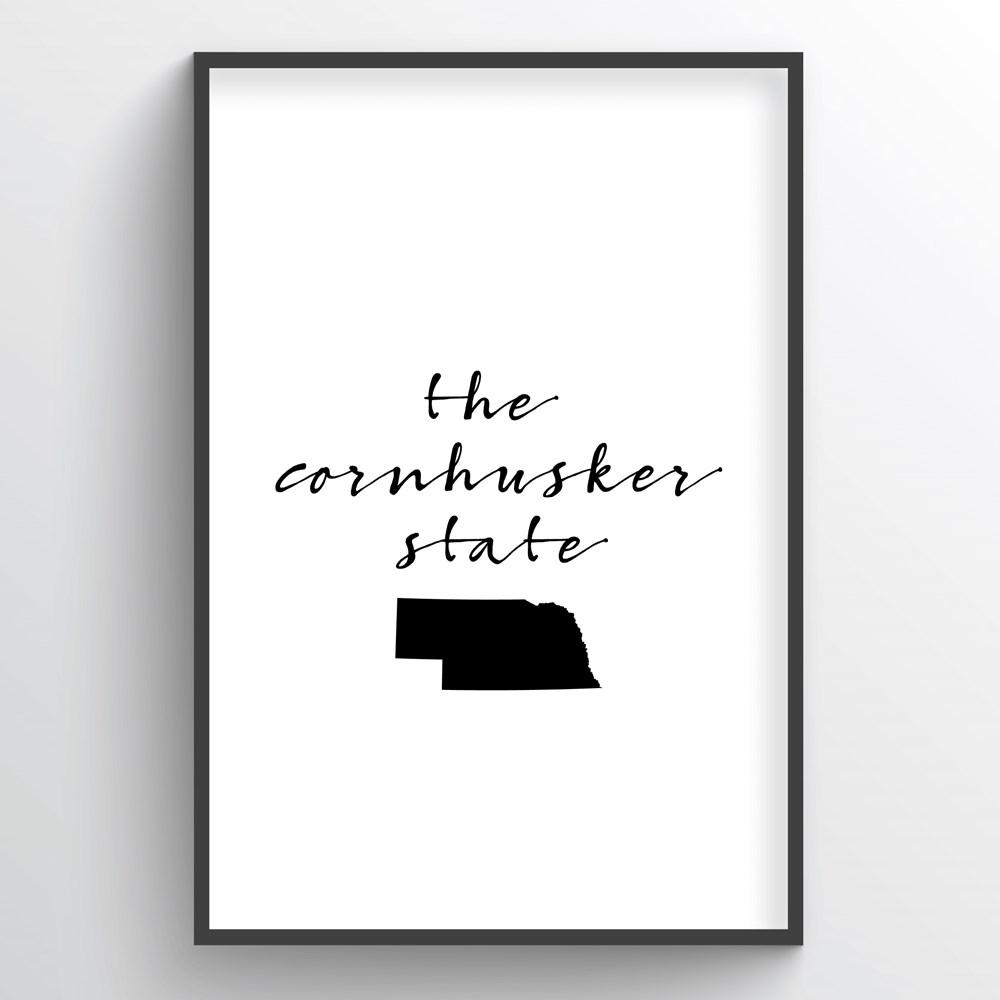 "Nebraska Word Art - ""Slogan"""
