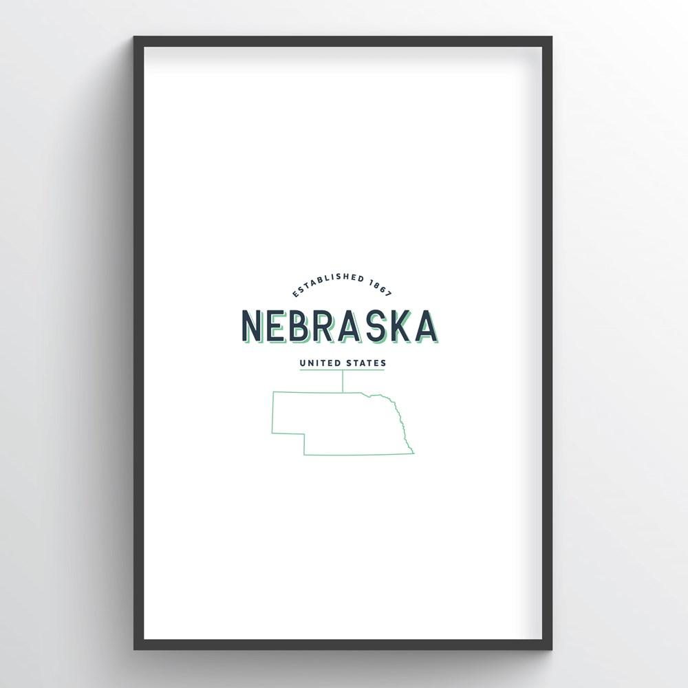 Nebraska Word Art