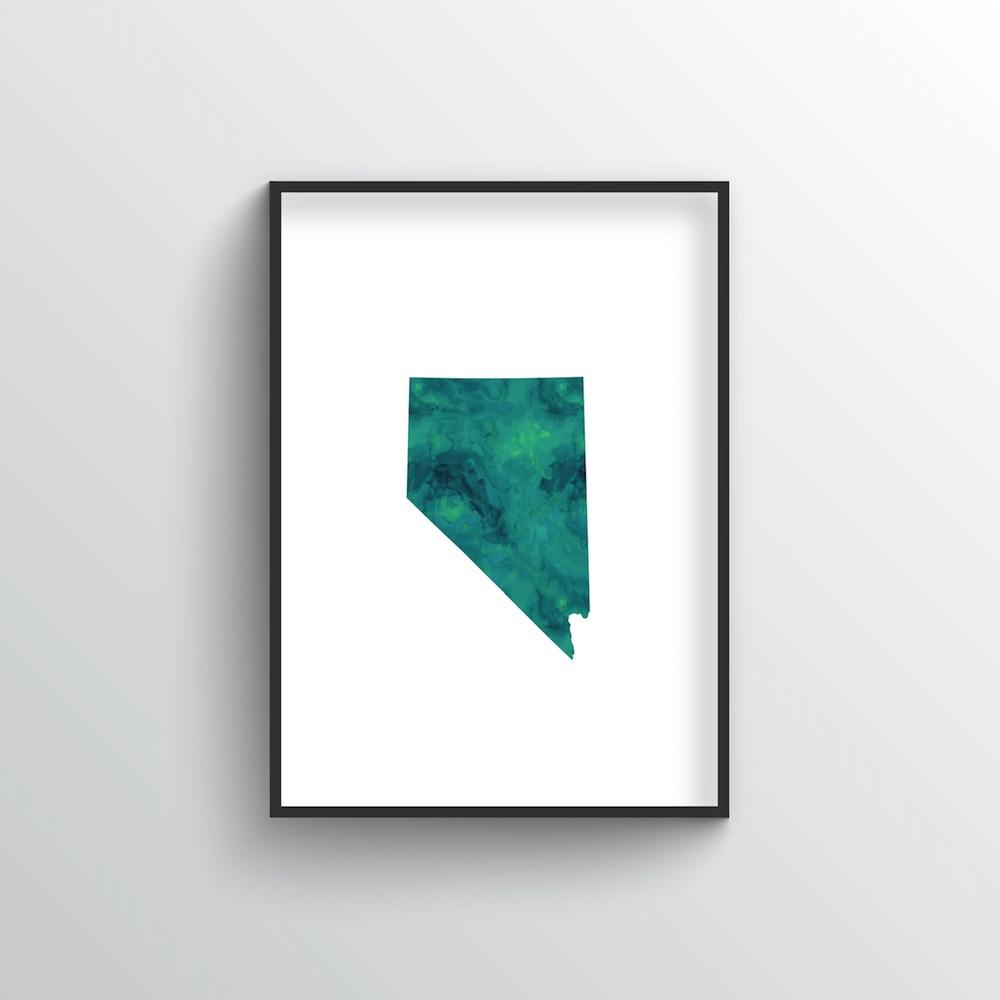 "Nevada Word Art - ""Watercolor"""
