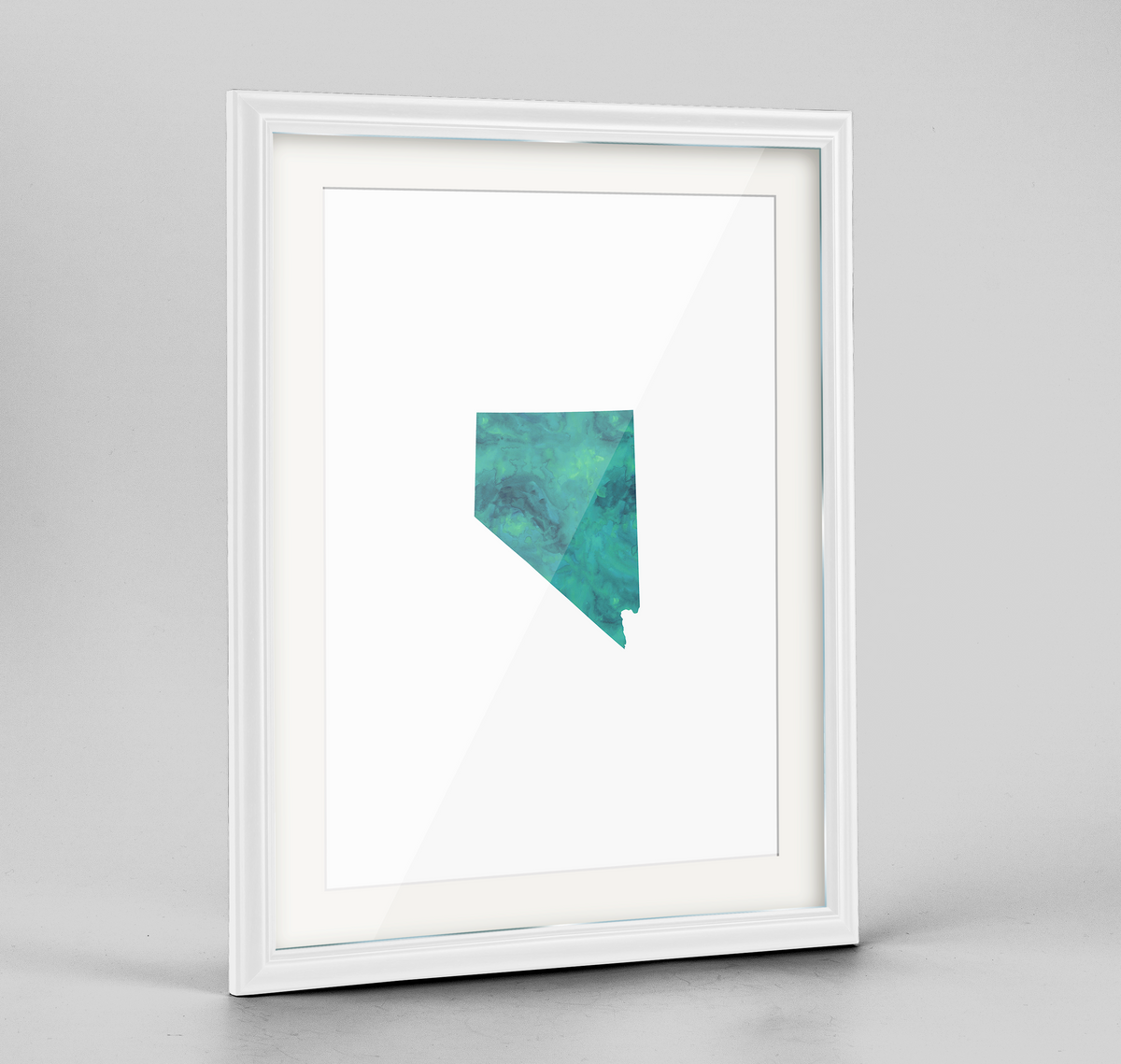 "Nevada Word Art Frame Print - ""Watercolor"""