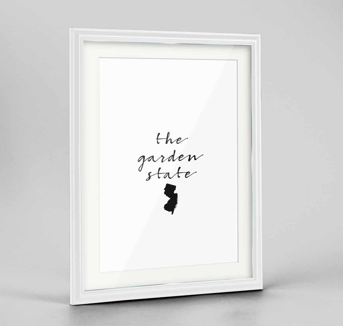 "New Jersey Word Art Frame Print - ""Slogan"""