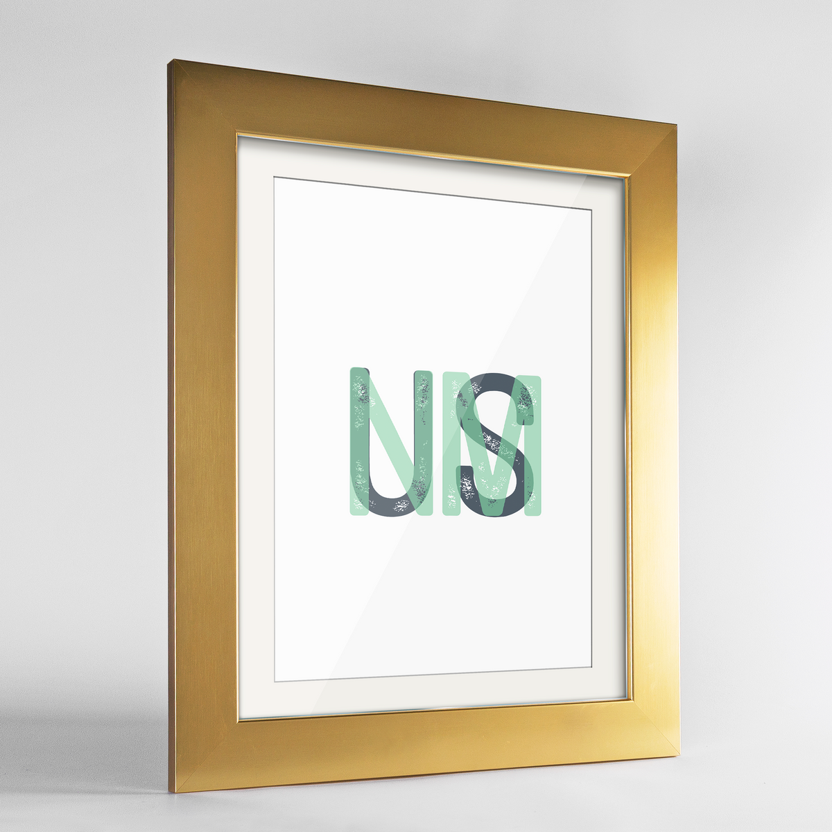 "New Mexico Word Art Frame Print - ""Initials"""
