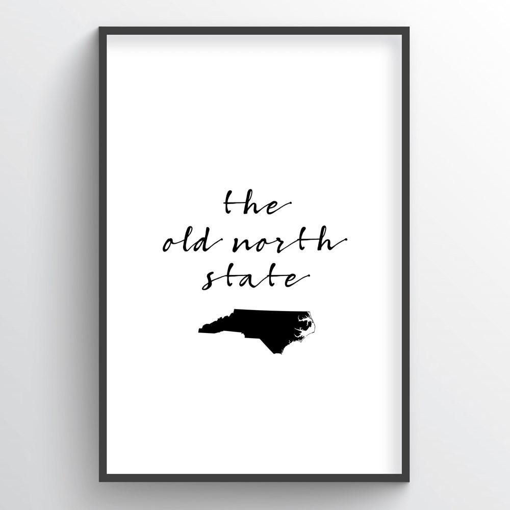 "North Carolina Word Art - ""Slogan"""