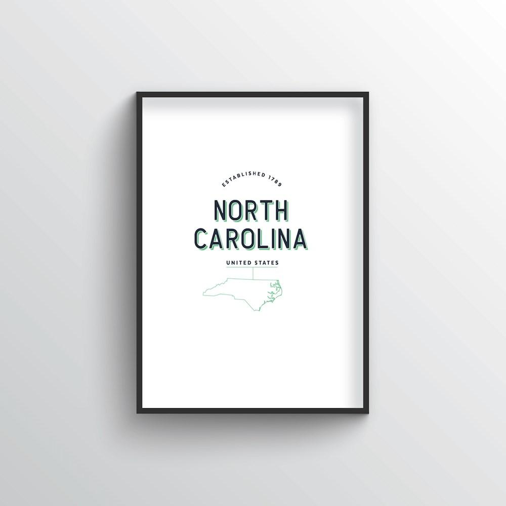 North Carolina Word Art