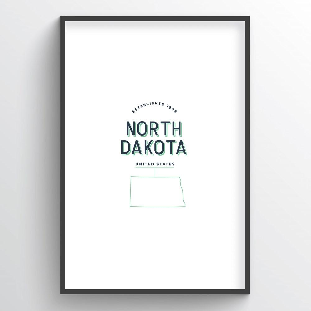 North Dakota Word Art