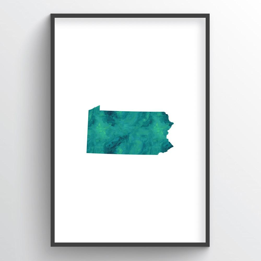 "Pennsylvania Word Art - ""Watercolor"""
