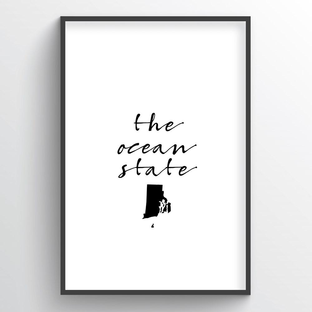 "Rhode Island Word Art - ""Slogan"""