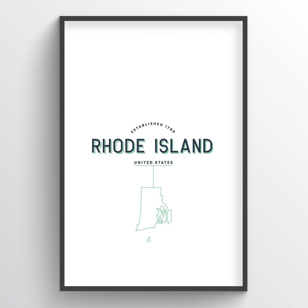 Rhode Island Word Art