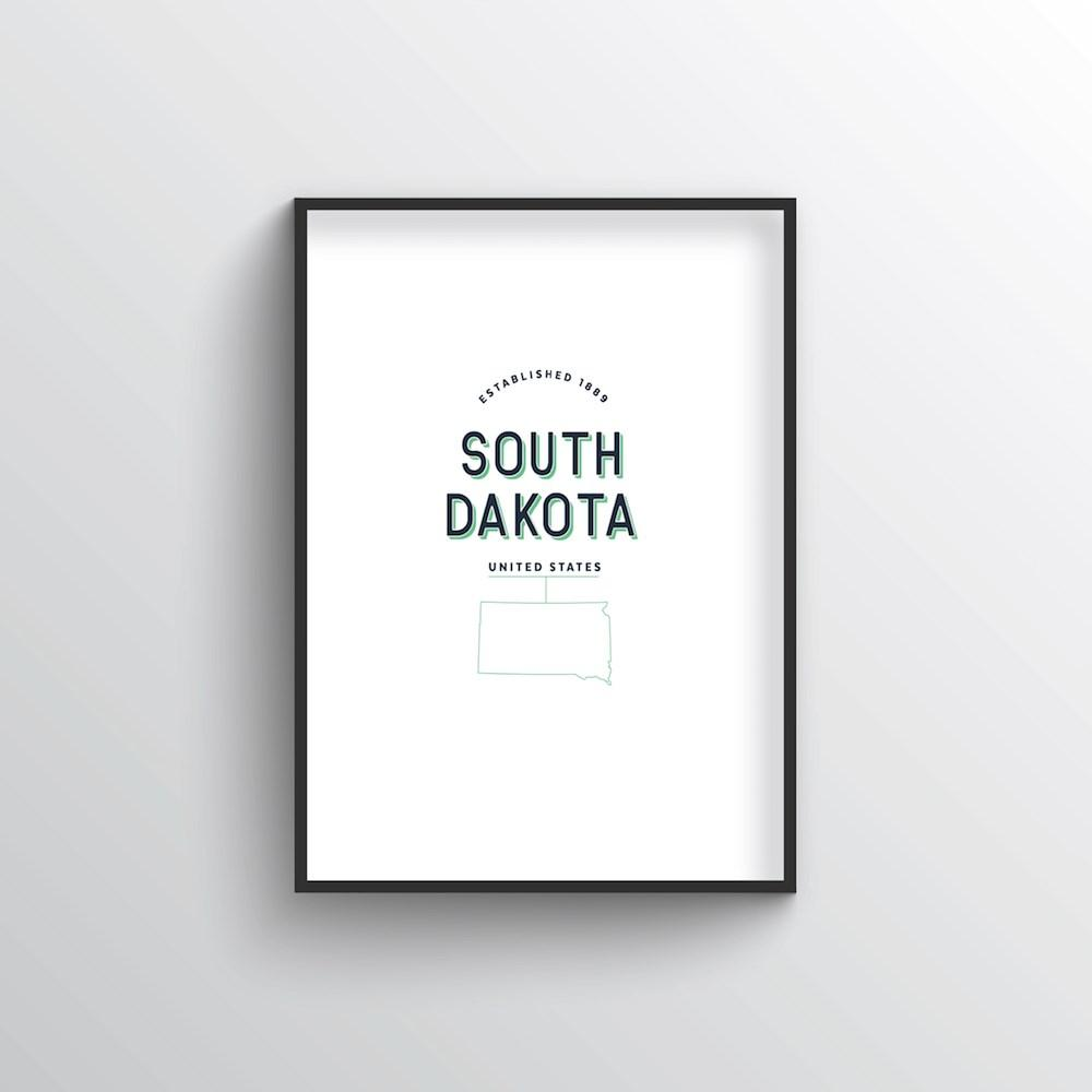 South Dakota Word Art